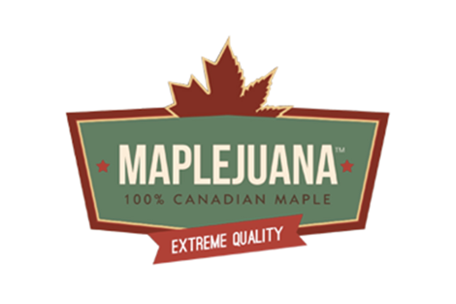 the green organic maple-marijuana
