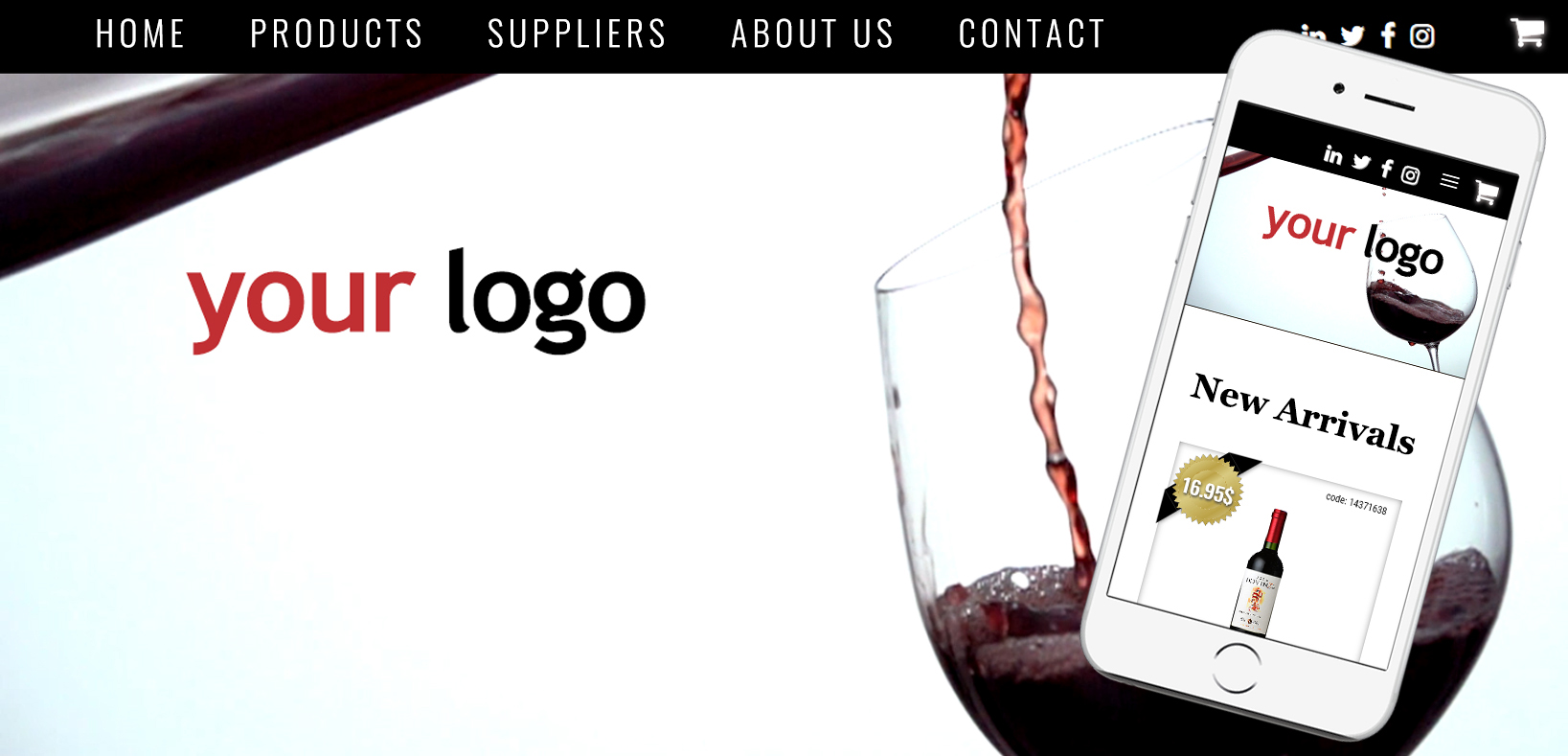 wine web developer